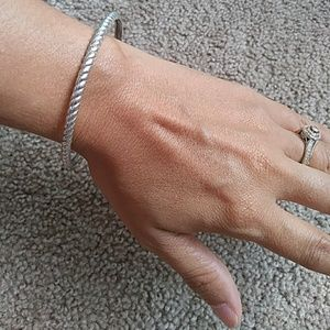 Vintage sterling silver Judith Ripka bangle bracel